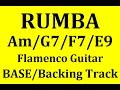 Lam, Sol7, Fa7, Mi9 / Am  G7, F7, E9 Rumba Backing Track