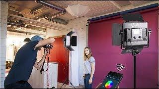 GVM RGB LED Video Lighting Kit, 800D Studio Video Lights Review, Very Reasonably Priced Pair of RGB