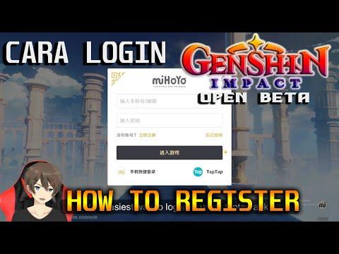 How To Register Mihoyo How To Login Genshin Impact Youtube