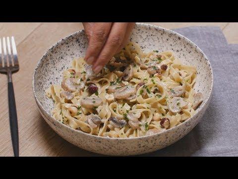 recette-facile-de-fettucine-aux-champignons