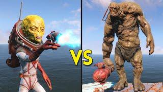 Fallout 4 - 250 ALIENS vs 11 BEHEMOTHS - Battles #17