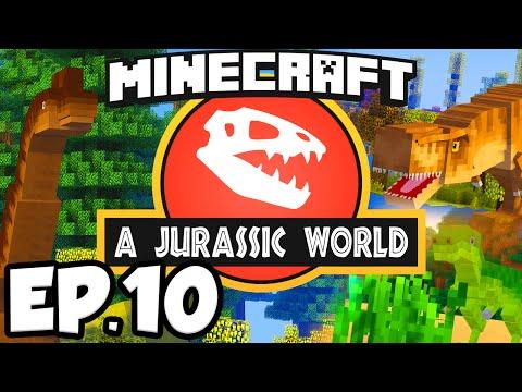 Jurassic World: Minecraft Modded Survival Ep.10 - DINOSAUR EGGS!!! (Rexxit Modpack)