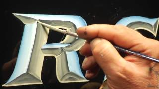 Glen Weisgerber's Jersey Style Chrome Lettering Demo
