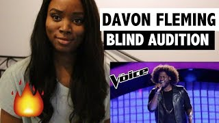The Voice 2017 Blind Audition Davon Fleming 34 Me And Mr Jones 34 Reaction