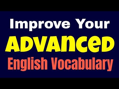 Advanced English Conversation ★ Improve Your Advanced English Vocabulary Words ✔