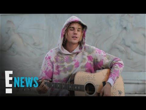 Justin Bieber Serenades Hailey Baldwin In London | E! News