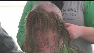 In light of St. Patrick's Day, people dress in green to raise money for cancer research