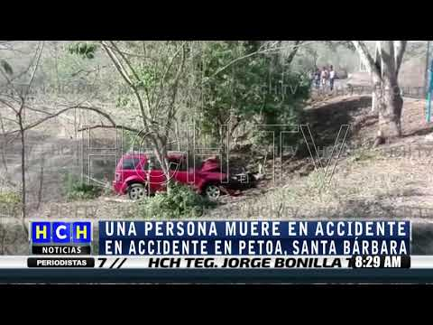 Conductor perece tras volcar en Petoa, Santa Bárbara