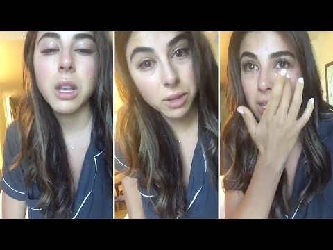 Daniella Monet CRYING on Snapchat  Full Video