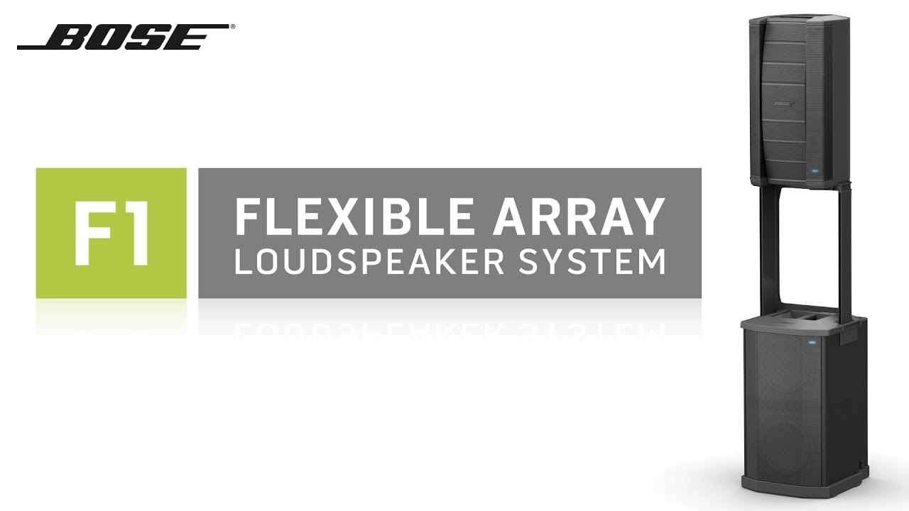 Bose F1 Flexible Array Loudspeaker System Youtube