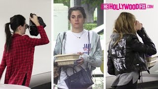 Kendall Jenner & Hailey Baldwin Visit Their Modeling Agency After Lauren Perez Buys Them Lunch