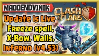 Clash of Clans - NEW Update, New Freeze Spell, Level 11 walls, Level 4 P.E.K.K.A., More X-Bows
