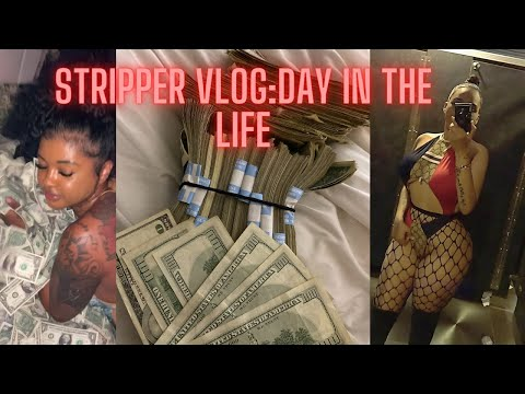 DAY IN THE LIFE OF A STRIPPER! WITH CLUB FOOTAGE (+Money count💰🛍️)