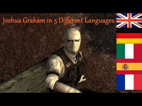 Meeting Joshua Graham's in 5 Languages. Fallout New Vegas Lonesome Road DLC |