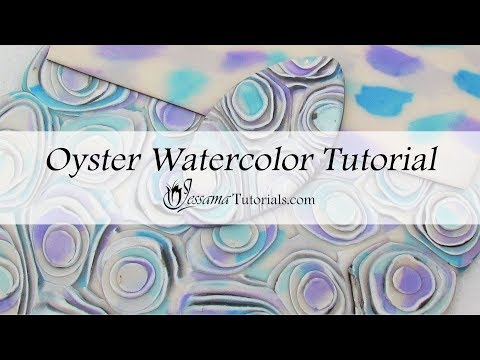 Polymer Clay Mixed Media: Oyster Watercolor Tutorial