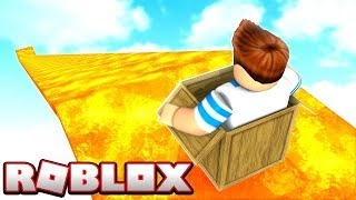 I WENT DOWN THE BIGGEST LAVA SLIDE IN ROBLOX!!