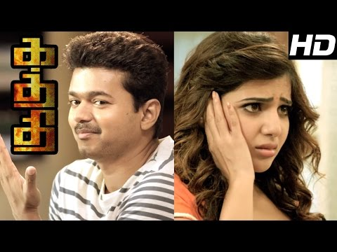 Kaththi  Kaththi Tamil Movie s  Vijay Plans to escape from Oldage Home  Vijay slaps Samantha