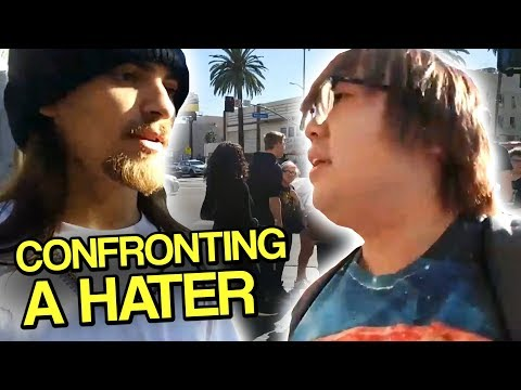 Confronting a HATER in Real Life - Hollywood with Text to Speech