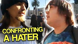 connectYoutube - Confronting a HATER in Real Life - Hollywood with Text to Speech