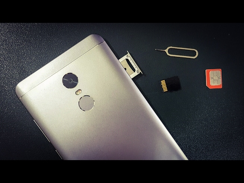 How To Insert Sim Card And Micro SD Card In Xiaomi Redmi Note 4