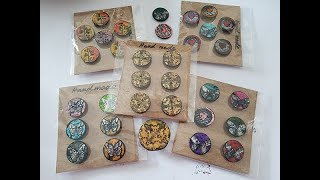 Handmade buttons Inspired By BettsyDoodle