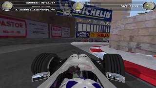 F1 2002 PC gameplay at Monaco - race
