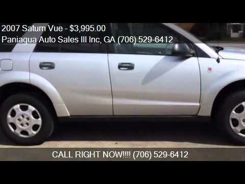 Paniagua Auto Sales >> 2007 Saturn Vue for sale in Dalton, GA 30721 at the Paniagua - YouTube