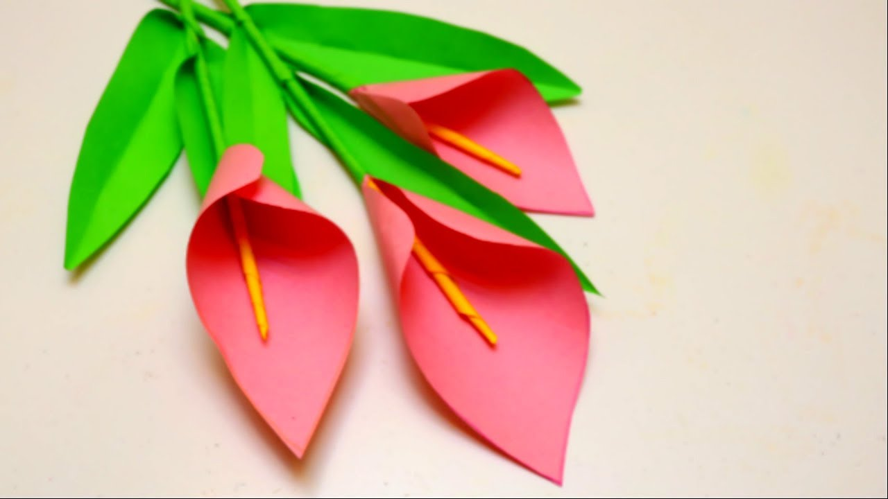Origami Calla Lily, How to Make a Lovely Paper Flower | 720x1280