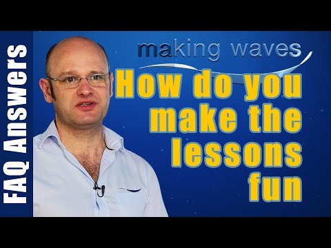 Making Waves Swimming Lessons East Kilbride Glasgow - How do you make the lesson a fun experience