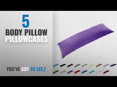 Top 10 Body Pillow Pillowcases [2018]: TAOSON 100% Cotton 300 Thread Count Body Pillow Cover