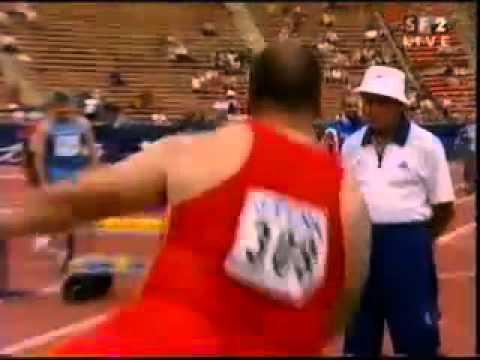 Shot Put Martinez World Athletics Champs 2001 20.91m.mp4