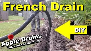 Yard Drain, French Drain, DIY with Money Saving Tips and and How To