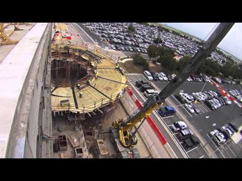 Austin Bergstrom International Airport - Consolidated Rental Car Center Construction Time Lapse