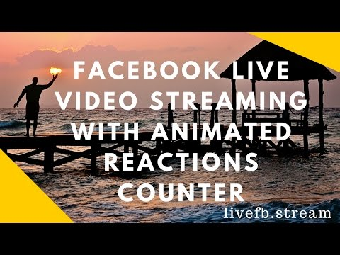 Facebook Live Video Streaming with Animated Reactions Counter - Facebook Live Video