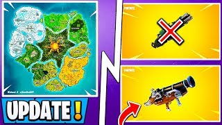 "*NEW* Fortnite Update! | Season 8 Map Leaked, ""Cannon Ball"" Weapon, Vaults!"