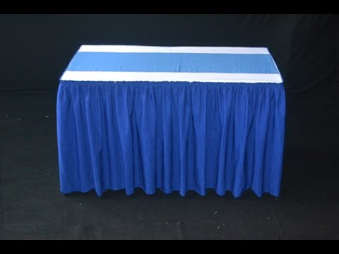 Order Taplak Meja Skirting Kotak Biru Tua