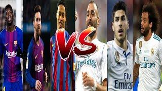 Real Madrid vs Barcelona El clasico Freestyle Football battle(Recreating viral football skills 2019)