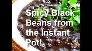 Vegan Recipe - Make delicious black beans in the Instant Pot!