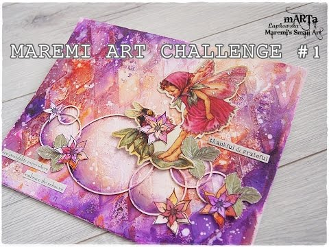 Maremi Challenge #0 - Step outside your Comfort Zone / Mixed Media Art Tutorial