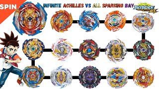 【Infinite Achilles VS ALL Sparking】 Beyblade Burst Sparking …