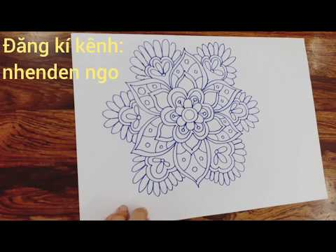 Vẽ hoa cách điệu dễ trang trí- Draw stylized flowers easily decorated with circles and squares