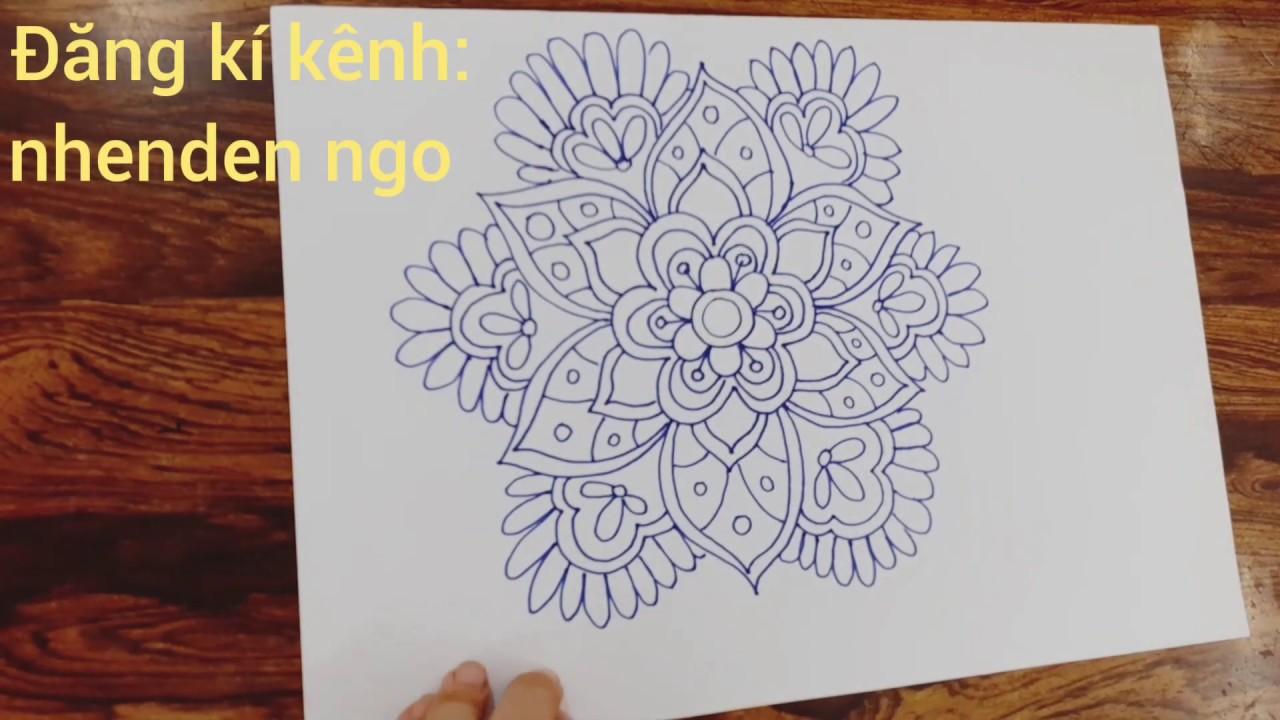 Vẽ hoa cách điệu dễ trang trí- Draw stylized flowers easily decorated with circles and squares | Tổng hợp các kiến thức liên quan đến vẽ hoa hồng cách điệu chi tiết nhất
