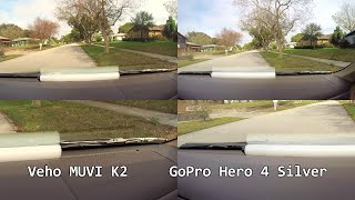 Veho MUVI K-Series vs GoPro Hero 4 daytime dashboard 720P60