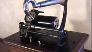 'The Laughing Coon Sung By George W. Johnson Edison Phonograph Cylinder On Columbia BKT Graphophone