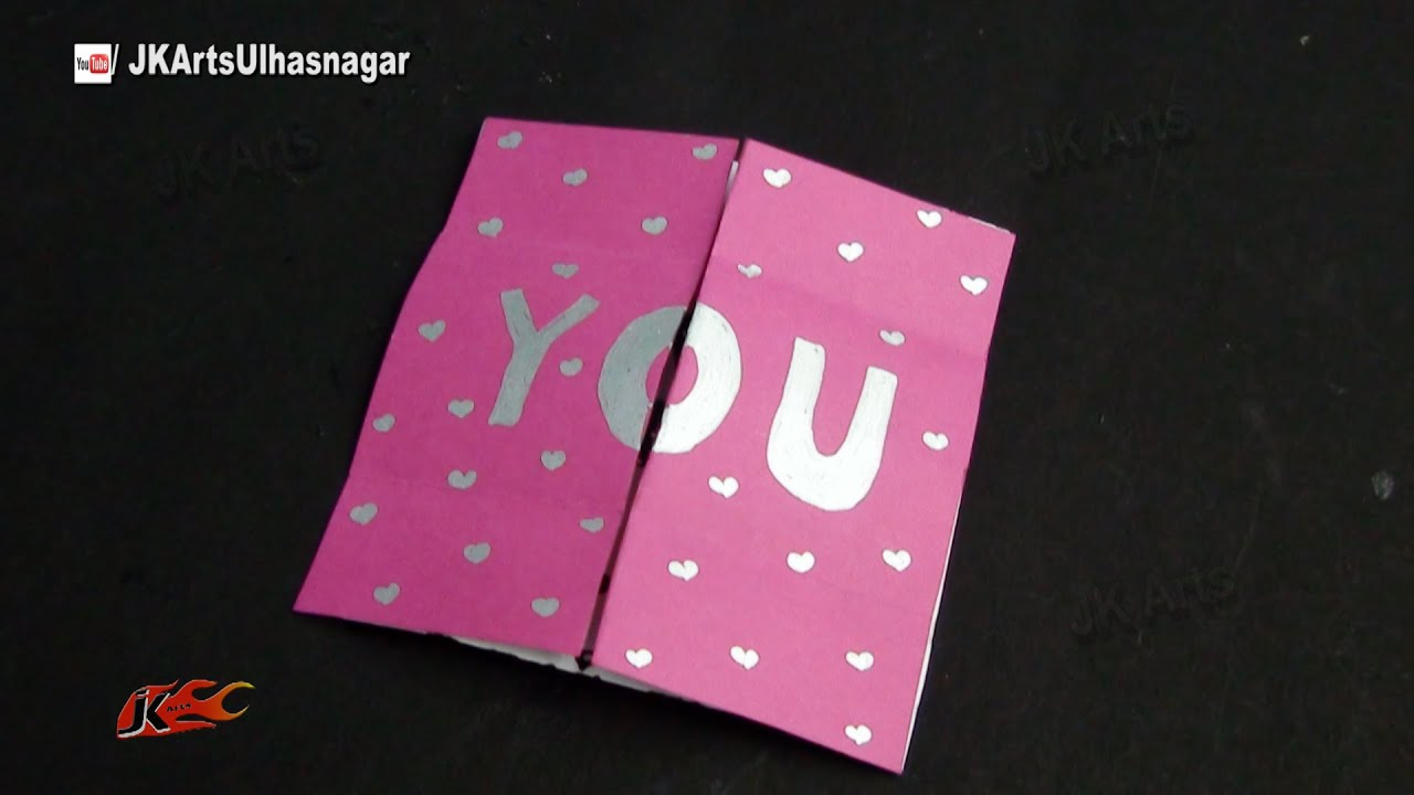 DIY How to make Endless Card – How to Make Valentines Cards