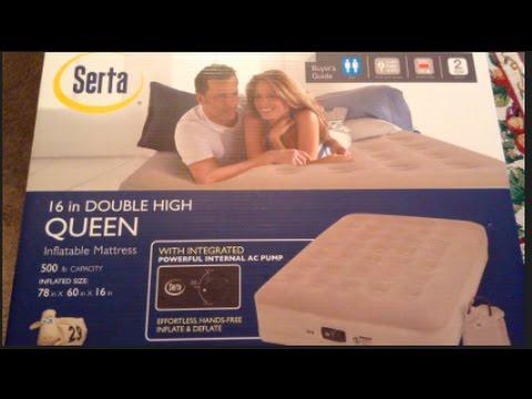 300 serta 16 queen air mattress 500 lb capacity