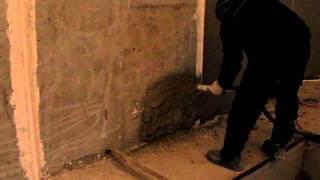 Штукатурка стен.wmv(Оштукатуривание стен механизированным способом. Штукатурная станция Путцмайстер (Putzmeister). ООО