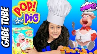 Top Toys POP THE PIG CHALLENGE GAME #2 Keep Feeding The Pig Yummy Burgers Until He POPS Gabe Tube TV
