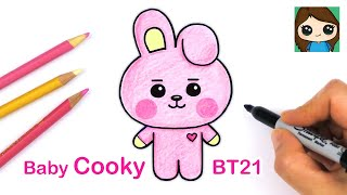How to Draw BT21 BABY Cooky | BTS Jungkook Persona