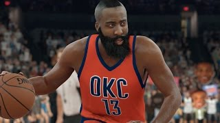What If James Harden Never Left The Oklahoma City Thunder? NBA 2K17 Challenge